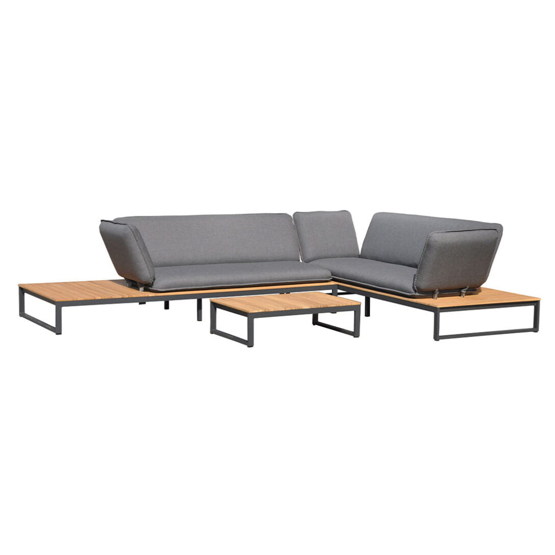 Large Size of Outliv Ancona Sofagruppe 3tlg Aluminium Teak Nanoteideen Und Garten Loungemöbel Günstig Holz Wohnzimmer Outliv Loungemöbel