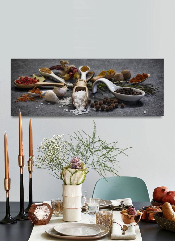 Medium Size of Küchen Glasbilder Levandeo Glasbild 30x80cm Gewrze Kruter Kche Kchenbild Lffel Bad Küche Regal Wohnzimmer Küchen Glasbilder