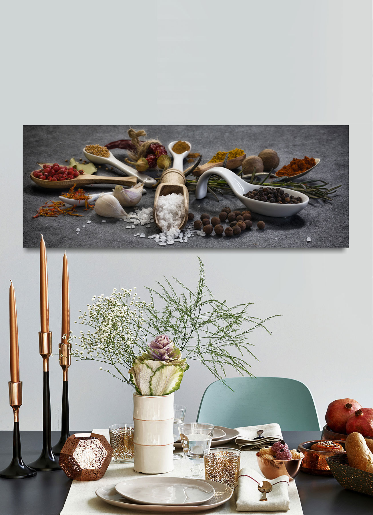 Full Size of Küchen Glasbilder Levandeo Glasbild 30x80cm Gewrze Kruter Kche Kchenbild Lffel Bad Küche Regal Wohnzimmer Küchen Glasbilder