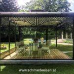 Pavillon Eisen Wohnzimmer Schmiedeeisen Einfahrtstor Tor Schiebetor Pavillon Garten