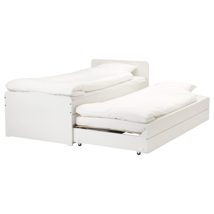 Medium Size of Bett Mit Ausziehbett Ikea Slkt Bettgestell Massivholz Betten Schreibtisch 200x200 Weiß Jugend Massiv Günstige Coole 180x200 Komforthöhe 140x200 Günstig Wohnzimmer Bett Mit Ausziehbett Ikea