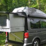 Ausziehbett Camper Wohnzimmer Ausziehbett Camper Vw T5 Bett Mobil Von Hnle Auf Der Cmt 2015 Auto Mit