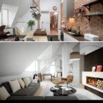 Dachgeschosswohnung Einrichten Wohnzimmer Dachgeschosswohnung Einrichten 95 Ideen Fr Jeden Wohnbereich Kleine Küche Badezimmer