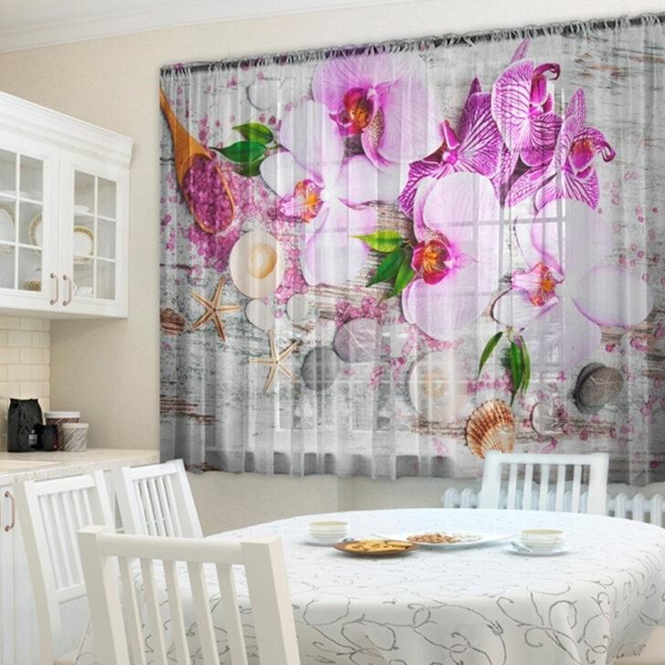 Medium Size of 2er Set 145160 Cm Gardinen Transparent Foto Vorhnge 3d Wohnzimmer Küchenvorhang