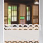 Fensterfolie Blickdicht Glasdekorfolie Dusche Folie Fr Duschkabine Sichtschutz Bad Wellen Wohnzimmer Fensterfolie Blickdicht