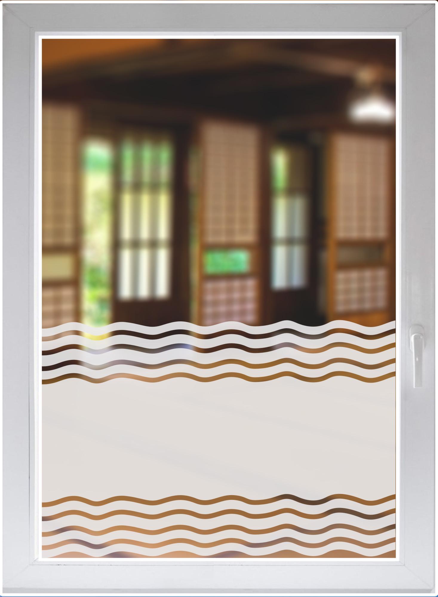 Full Size of Fensterfolie Blickdicht Glasdekorfolie Dusche Folie Fr Duschkabine Sichtschutz Bad Wellen Wohnzimmer Fensterfolie Blickdicht