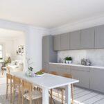 Küche Grauer Boden Eiche Hell Mit Geräten Sideboard Arbeitsplatte Ikea Kosten Bodenbelag Tapeten Für Scheibengardinen Bodengleiche Dusche Einbauen Bartisch Wohnzimmer Küche Grauer Boden