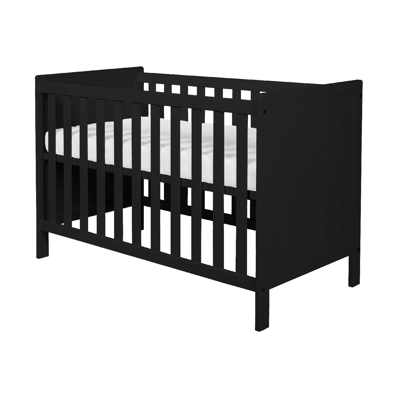 Full Size of Basicline Babybett Ralph In Schwarz Schwarzes Bett Weiß Schwarze Küche 180x200 Wohnzimmer Babybett Schwarz