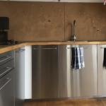 Küchen Holz Modern Wohnzimmer Modern Meets Warm Ikea Kche Aus Stahl Und Holz Gebrauchte Alu Fenster Preise Vollholzküche Massivholz Esstisch Garten Loungemöbel Moderne Deckenleuchte