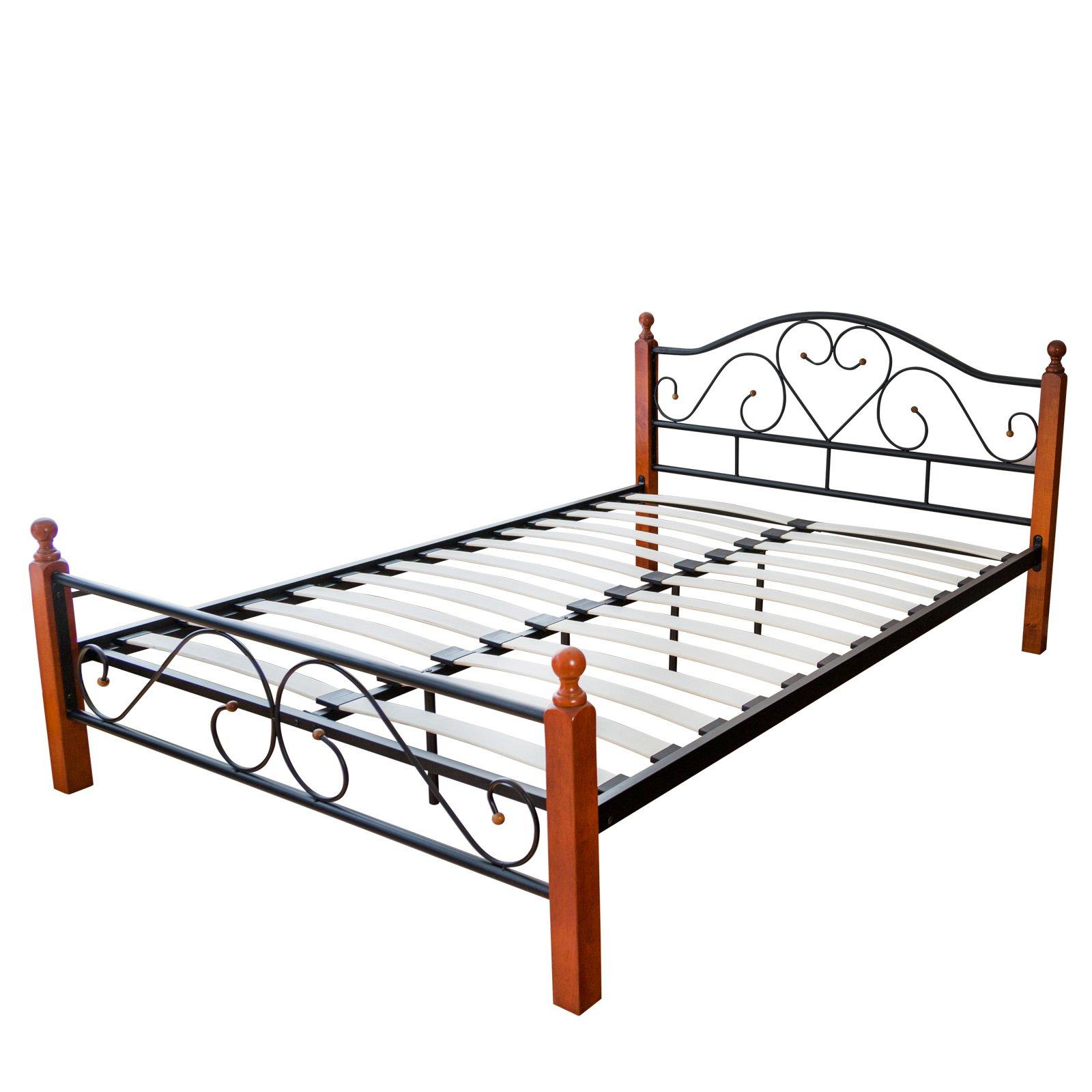 Full Size of Metallbett 100x200 Homestyle4u 547 Bett Betten Weiß Wohnzimmer Metallbett 100x200