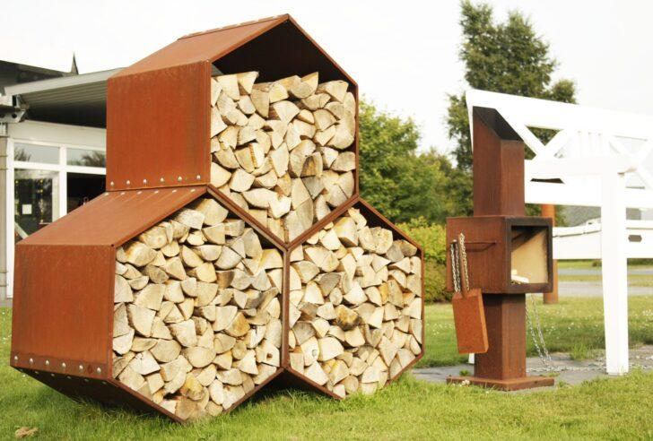 Medium Size of Holzlege Cortenstahl Wo Heizen Noch Von Herzen Kommt Fuga El Mit Bildern Wohnzimmer Holzlege Cortenstahl