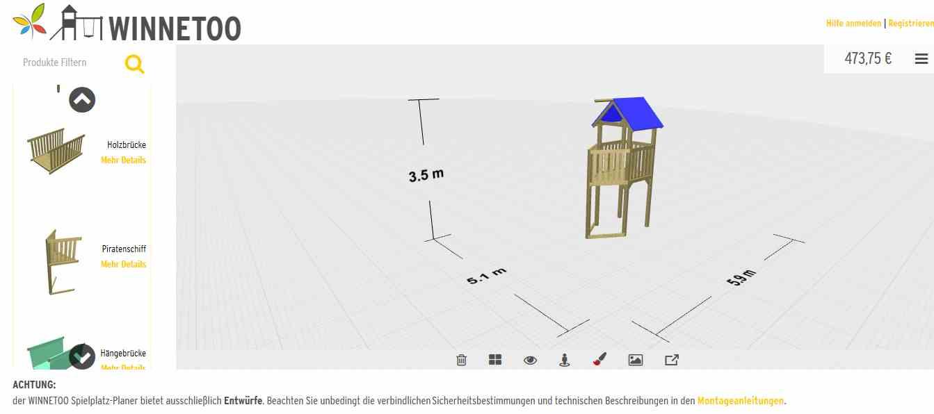 Full Size of Spielturm Bauhaus Winnetoo Online Planer Fenster Garten Kinderspielturm Wohnzimmer Spielturm Bauhaus