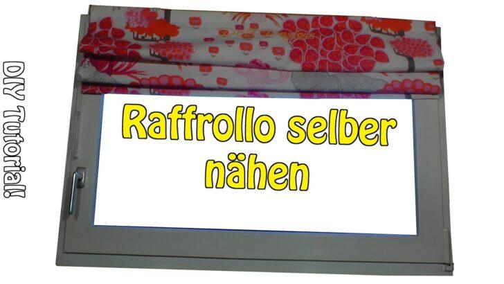 Medium Size of Raffrollo Küchenfenster Faltrollo Selber Nhen Diy Fr Anfnger Küche Wohnzimmer Raffrollo Küchenfenster