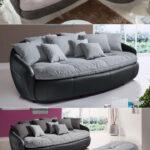 Megasofa Crasus Bigsofa Xxl Sofa Couch In Schwarz Und Grau Inkl 9 Wohnzimmer Megasofa Aruba