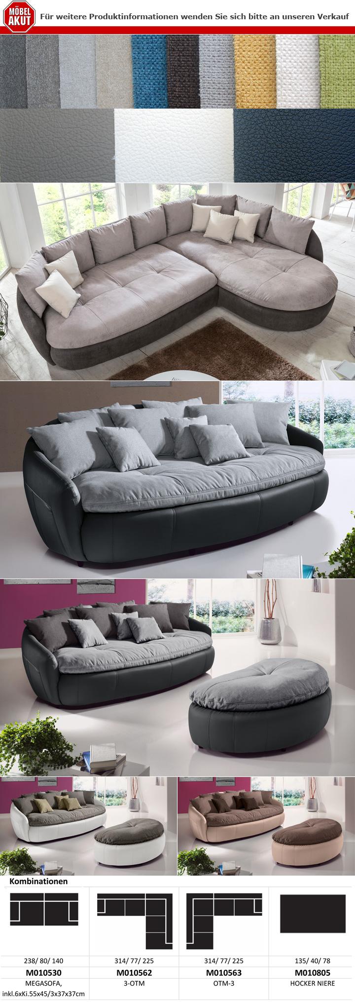 Full Size of Megasofa Crasus Bigsofa Xxl Sofa Couch In Schwarz Und Grau Inkl 9 Wohnzimmer Megasofa Aruba