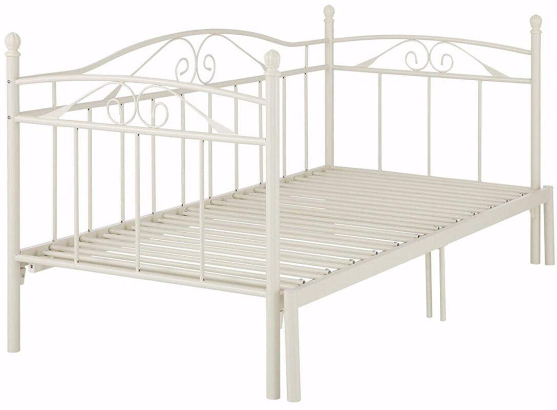 Large Size of Metallbett 100x200 Loft24 Florenz 90x200 Cm Tagesbett Ausziehbar Auf Betten Bett Weiß Wohnzimmer Metallbett 100x200