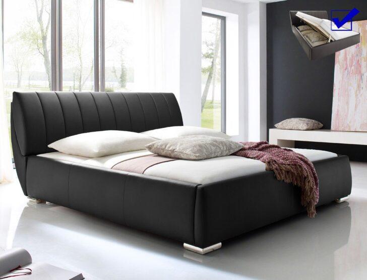 Medium Size of Klappbares Doppelbett Bett Bauen Polsterbett Luanos 180x200cm Schwarz Lattenrost Klappbar Ausklappbares Wohnzimmer Klappbares Doppelbett