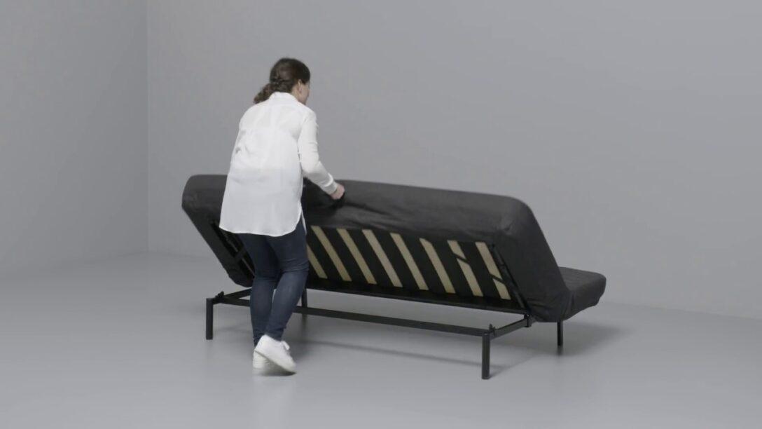 Large Size of Ikea Nyhamn Anleitung Vom 3 Er Sofa Zum Bett Youtube Ausklappbar Ausklappbares Wohnzimmer Couch Ausklappbar