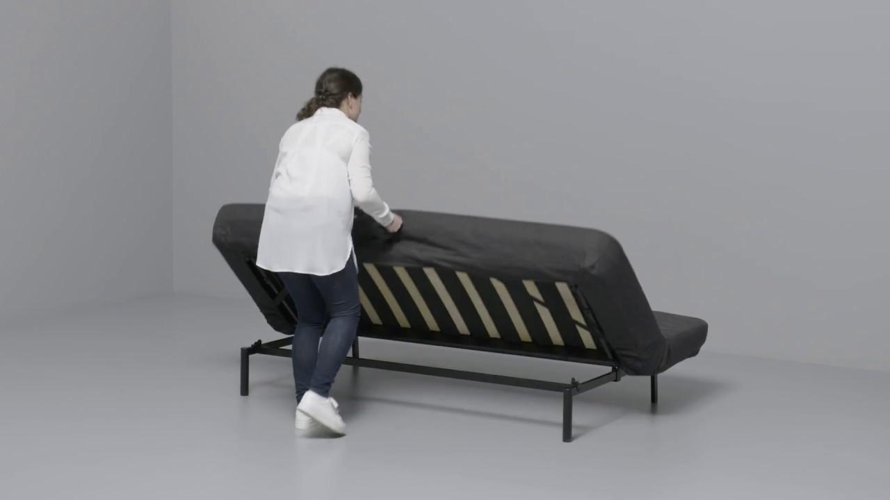 Full Size of Ikea Nyhamn Anleitung Vom 3 Er Sofa Zum Bett Youtube Ausklappbar Ausklappbares Wohnzimmer Couch Ausklappbar