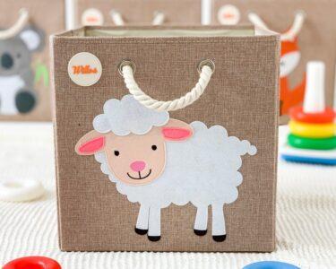 Aufbewahrungsbox Kinderzimmer Wohnzimmer Kinderzimmer Aufbewahrungsbospielzeugbomit Schaf Motiv Regal Weiß Regale Sofa Aufbewahrungsbox Garten