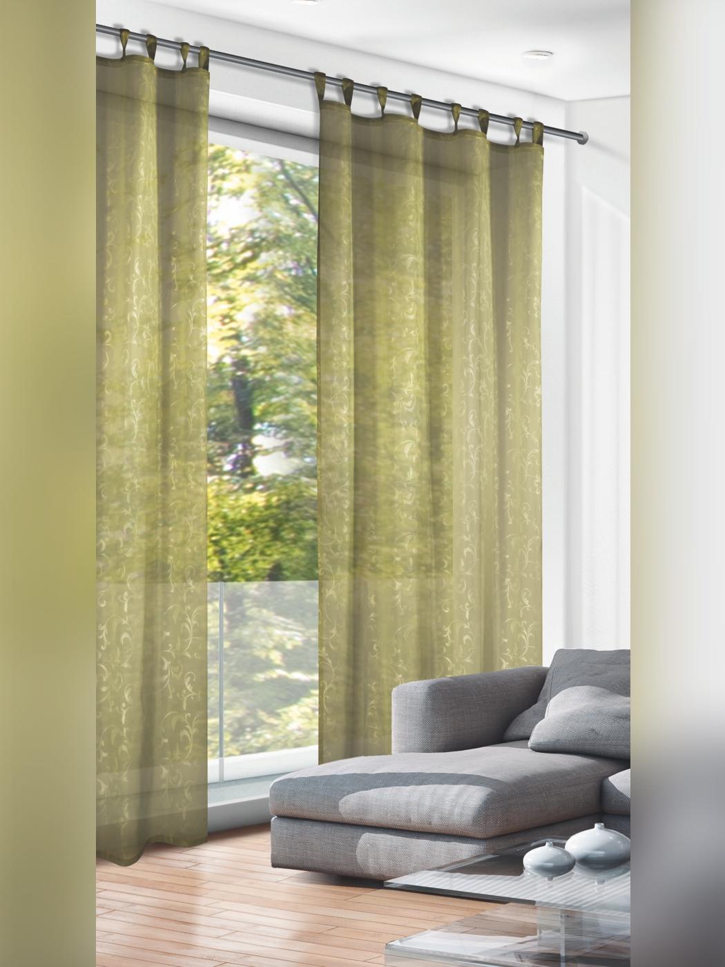 Full Size of Gardinen Vorhang Grn Ornamente Outlet Kurzzeitmesser Küche Wohnzimmer Schlaufengardinen Kurz