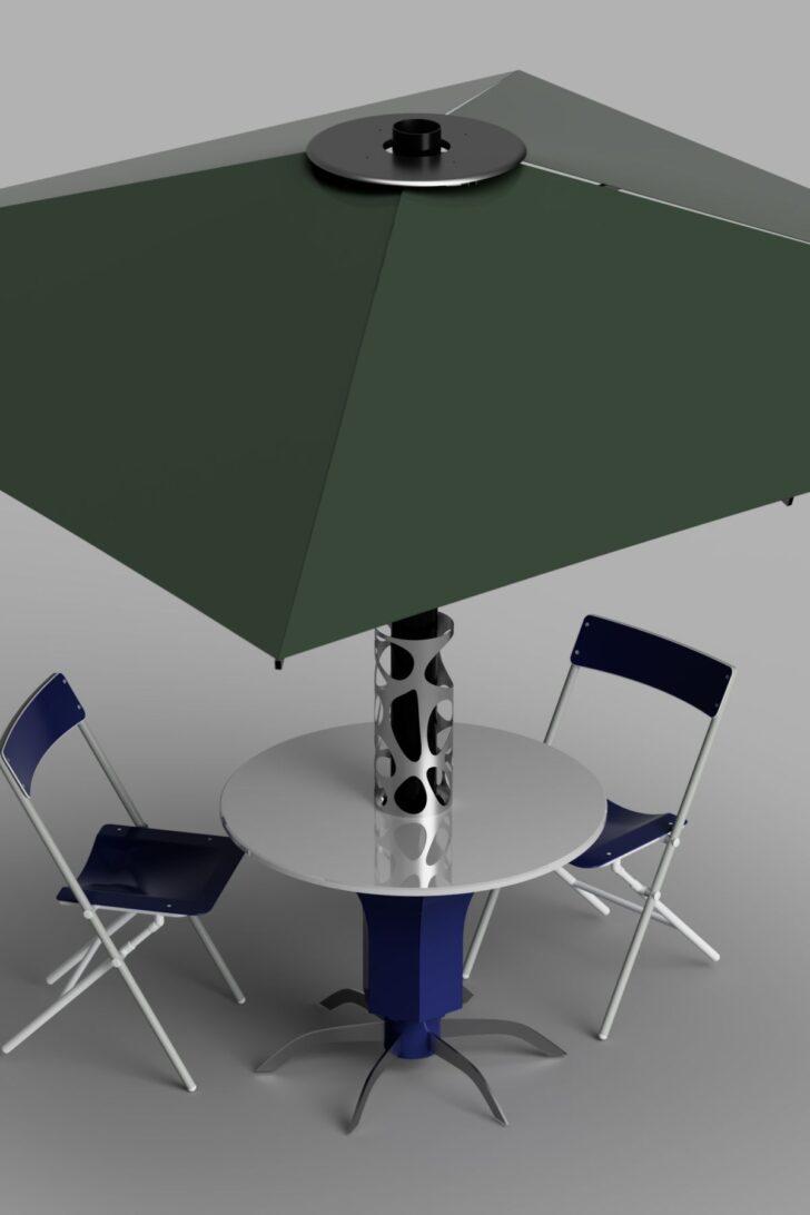 Medium Size of Tisch Feuerschale Wachs Edelstahl Beton Mit Integrierter Keramik Unter Der Tischplatte Befindet Sich Ein Vorartbehlter Fr Bett Schreibtisch Kleiner Küche Wohnzimmer Tisch Mit Feuerschale