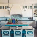 Küche Blau Wohnzimmer 7 Ideen Fr Perfekte Kche In Blau Barhocker Küche Hängeregal Wasserhähne Granitplatten Kurzzeitmesser Unterschrank Keramik Waschbecken Pendelleuchten