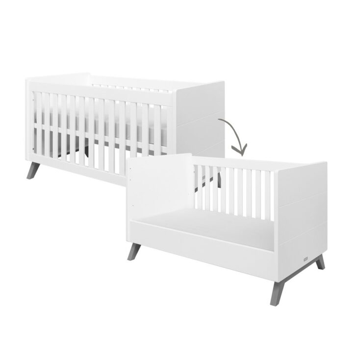 Medium Size of Bopita Bettschublade Babybett Juniorbett Levi 70 140 Cm Umbaubar Wei Grey Bett Wohnzimmer Bopita Bettschublade
