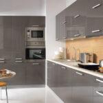 Groe Einbaukche Kche 420cm Mit Hochschrnken Modern Grau Kleiner Tisch Küche Landküche Ikea Miniküche Weiße Regale Weißer Esstisch Scheibengardinen Wohnzimmer Küche Weiß Grau