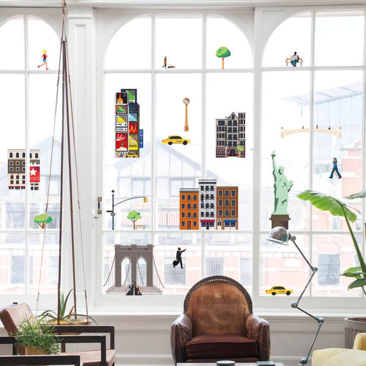 Medium Size of Fensterdekoration New York Von Fatboy Küche Weiß Hochglanz Aufbewahrungsbehälter Fliesenspiegel Glas Miniküche Mit Kühlschrank Nobilia Barhocker Günstige Wohnzimmer Fensterdekoration Küche