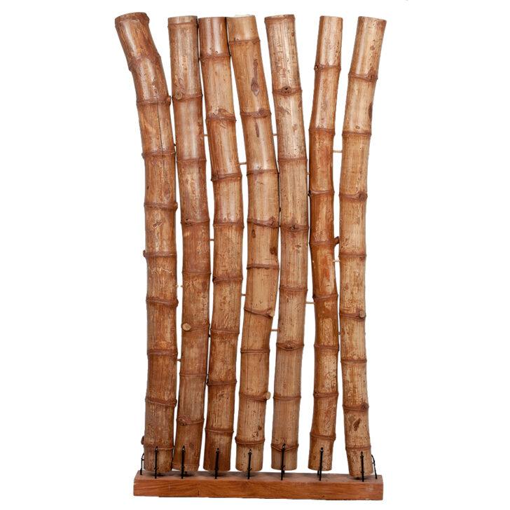 Paravent Holz Bambus Espacio Ca H190cm Natural Raumtrenner Spanische Regal Garten Holzhaus Esstisch Bett Massivholz 180x200 Küche Modern Holzfliesen Bad Wohnzimmer Paravent Holz