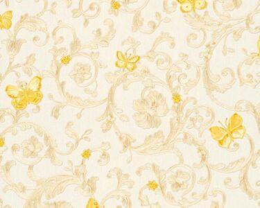 Tapete Küche Kaffee Wohnzimmer Butterfly Barocco Versace Home Floral Tapete Creme Gelb Glitzer Dha Küche Günstig Mit Elektrogeräten Kaufen Tapeten Schlafzimmer Hochglanz Weiss Hängeregal