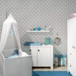 Babyzimmer Tapete Grau Regal Kinderzimmer Weiß Sofa Regale Wohnzimmer Wandgestaltung Kinderzimmer Jungen