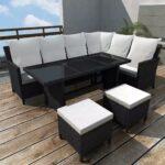 Couch Terrasse Gartens Sofagarnitur 14 Tlg 8 Personen Schwarz Esstisch Wohnzimmer Couch Terrasse