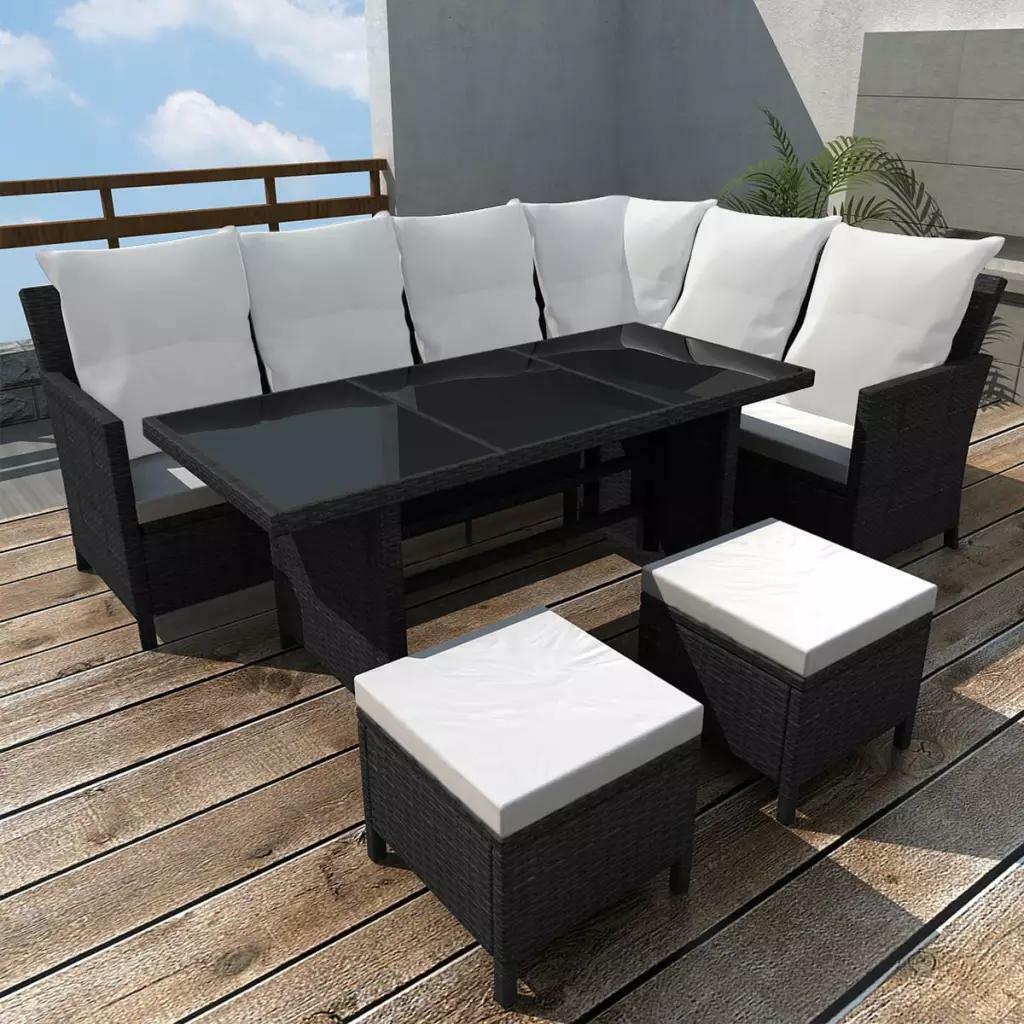 Full Size of Couch Terrasse Gartens Sofagarnitur 14 Tlg 8 Personen Schwarz Esstisch Wohnzimmer Couch Terrasse