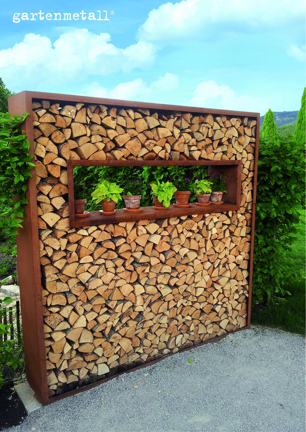 Full Size of Holzlege Cortenstahl Wohnzimmer Holzlege Cortenstahl