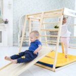Kidwood Klettergerst Rakete Junior Set Aus Holz 6 Klettergerüst Garten Wohnzimmer Klettergerüst Indoor Diy