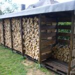 Einen Stabilen Brennholzunterstand Brennholzschuppen Gut Und Velux Fenster Einbauen Einbauküche Selber Bauen Regale Bett 140x200 Dusche Rolladen Nachträglich Wohnzimmer Holzlege Bauen