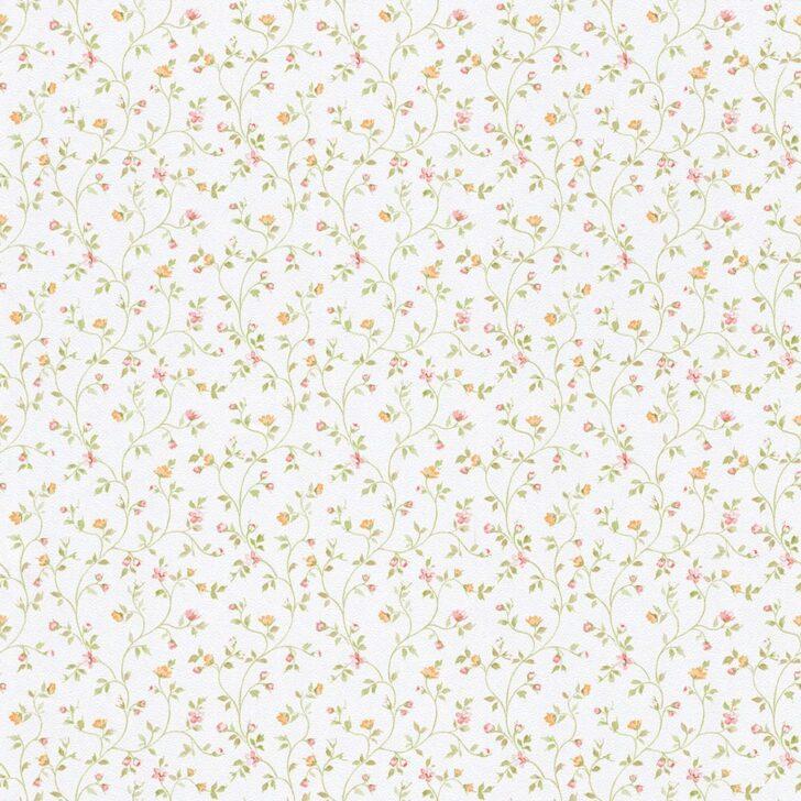 Medium Size of Küchentapete Landhausstil Rasch Tapete Fleur Iii 294735 Blmchen Bltter Wei Bunt Schlafzimmer Wohnzimmer Küche Sofa Boxspring Bett Bad Esstisch Regal Weiß Wohnzimmer Küchentapete Landhausstil