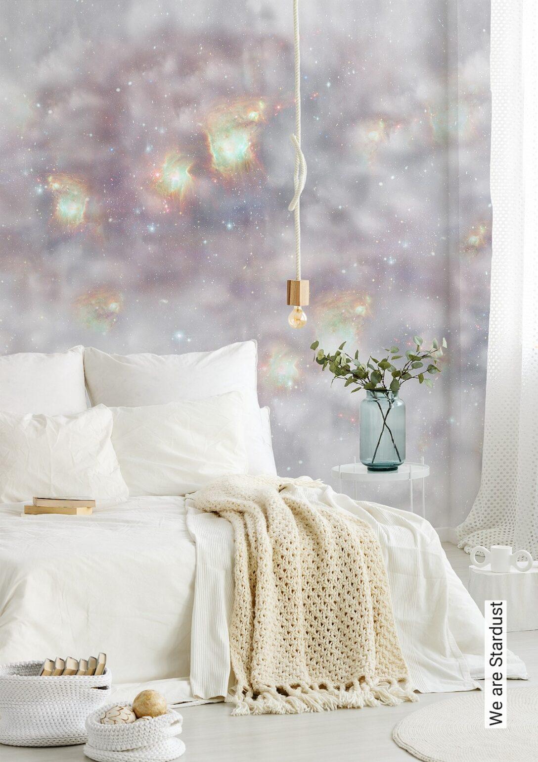 Large Size of Schlafzimmer Tapeten 2020 Tapete We Are Stardust Elli Popp Tapetenagenturde Wandtattoos Set Mit Matratze Und Lattenrost Komplett Rauch Wandlampe Wohnzimmer Schlafzimmer Tapeten 2020