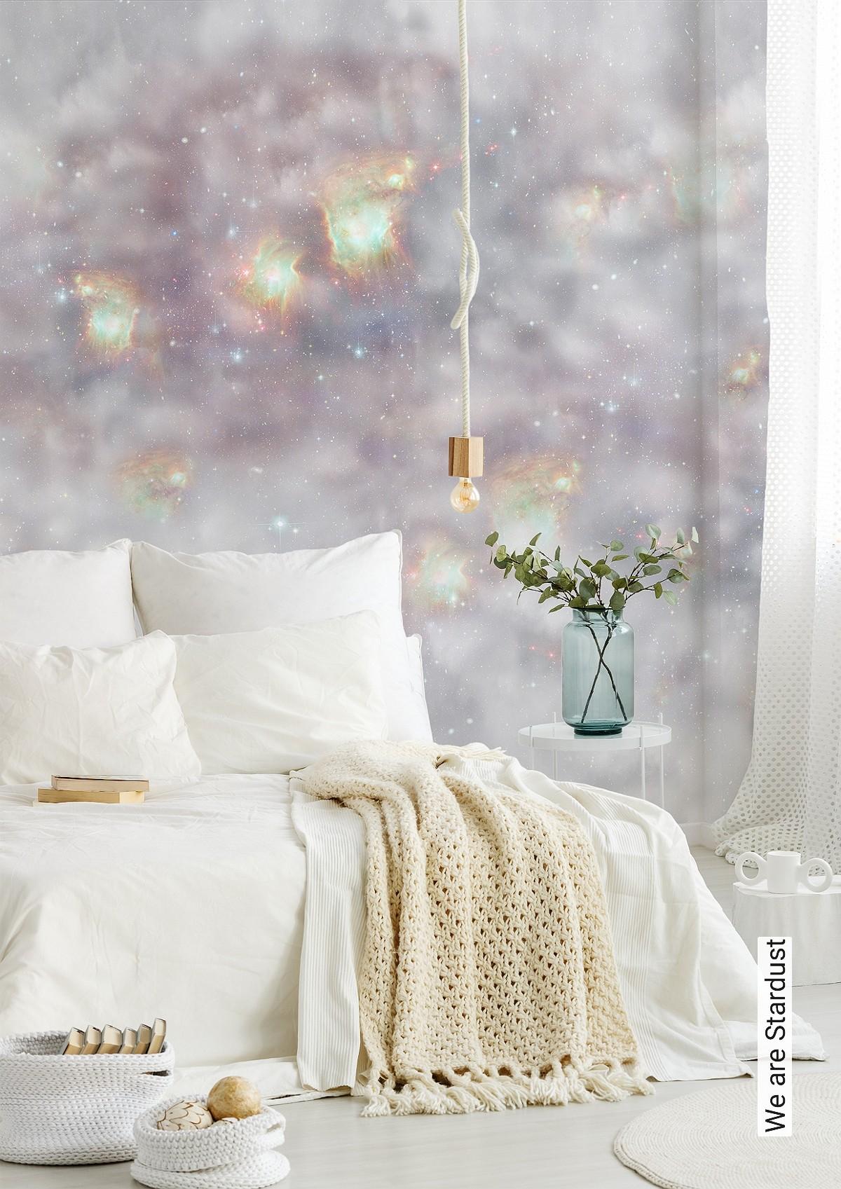 Full Size of Schlafzimmer Tapeten 2020 Tapete We Are Stardust Elli Popp Tapetenagenturde Wandtattoos Set Mit Matratze Und Lattenrost Komplett Rauch Wandlampe Wohnzimmer Schlafzimmer Tapeten 2020