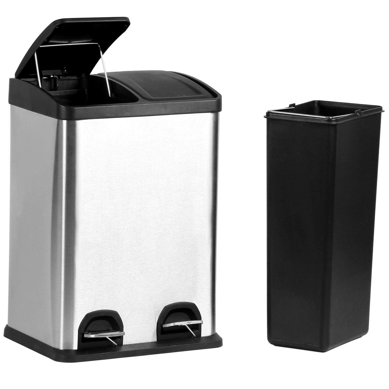 Full Size of Doppel Mülleimer Duo Kchen Mlleimer 2x20 Liter Abfalleimer Treteimer Mlltrenner Küche Doppelblock Einbau Wohnzimmer Doppel Mülleimer