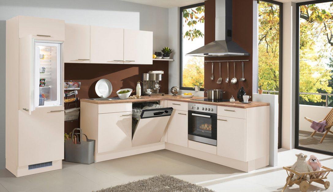 Large Size of Basic Einbaukche Pura 0080 Magnolienweiss Kchenquelle Küchen Regal Wohnzimmer Küchen Quelle