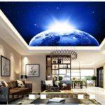3d Foto Tapete Blau Traum Schlafzimmer Beleuchtung Wohnzimmer Fototapete Sessel Im Bad Wandtattoo Gardinen Relaxliege Hängeleuchte Led Wohnzimmer Wohnzimmer Decke