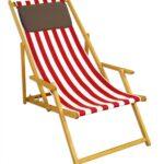 Liegestuhl Wetterfest Rot Wei Strandliege Gartenliege Sonnenliege Deckchair Garten Wohnzimmer Liegestuhl Wetterfest