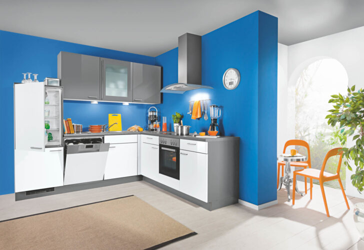 Medium Size of Küche Blau L Kche Grau Fr Nur 1444 Bei Der Wahren Kuechen Boerse Vorratsdosen Wandpaneel Glas Arbeitstisch Rustikal Industriedesign Wandregal Einbauküche Wohnzimmer Küche Blau