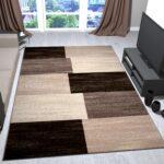 Teppich Modern Wohnzimmer Beige Braun Kariert Meliert Was Kostet Eine Küche Holzregal Kurzzeitmesser Deckenleuchte Sockelblende Spüle Sonoma Eiche Laminat Wohnzimmer Küche Teppich