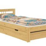Futonbett 100x200 Wohnzimmer Bett Naturholz 100x200 Zuhause Betten Weiß