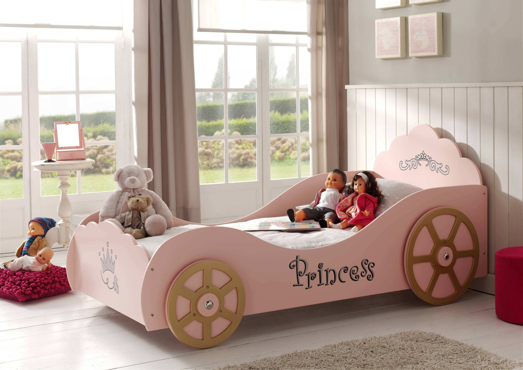 Full Size of Mädchenbetten Kutschenbett Princess Kinderbett Mdchenbett Mit Lattenrost 90 X Wohnzimmer Mädchenbetten