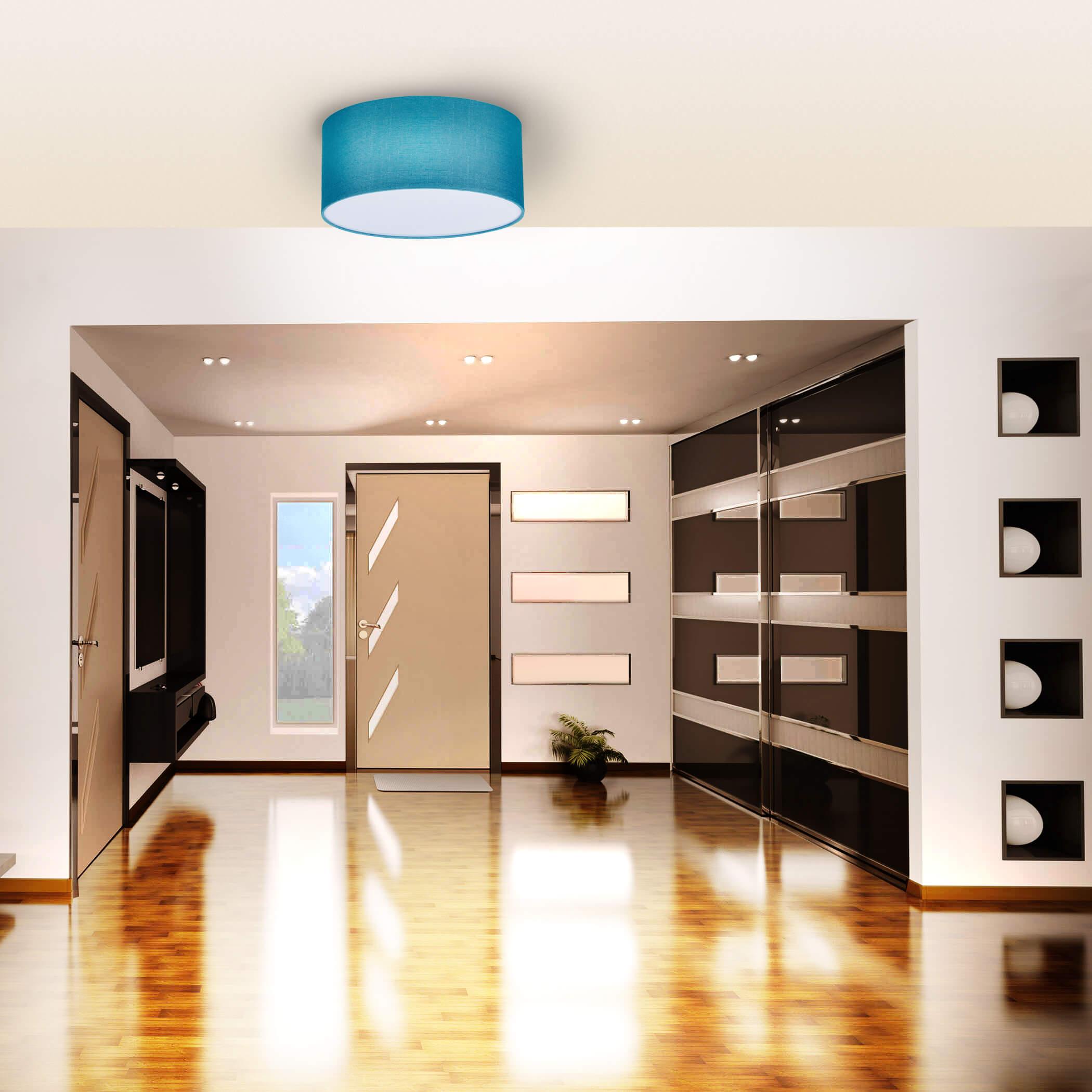 Full Size of Design Deckenleuchten Deckenleuchte E27 Trkis Inklled Led Lampen Und Leuchten Im Wohnzimmer Küche Schlafzimmer Esstische Bad Industriedesign Designer Esstisch Wohnzimmer Design Deckenleuchten